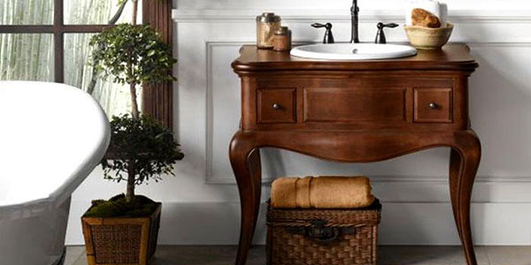 antique style bathroom vanities  photos