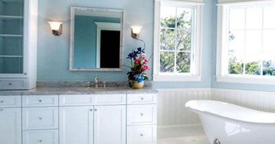 BLUE BATHROOM DESIGN IDEAS VINTAGE