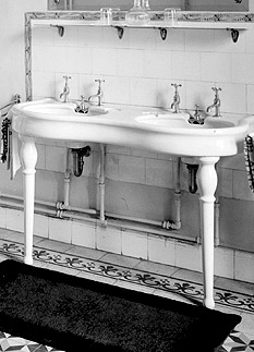 Beau The Double Console Vintage Sink On The Left Looks Very Similar To The  Console Lavatory By Porcher On The Right.
