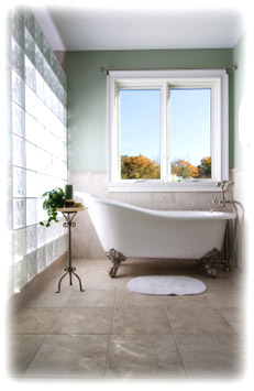 Freestanding Bath Tubs on small bathroom shower tile ideas