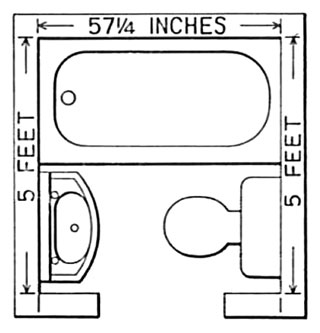 5 x 5 bathroom floor plan these small - Small Bathroom Floor Plans
