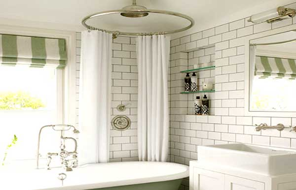 Vintage Bath Style Tub Shower