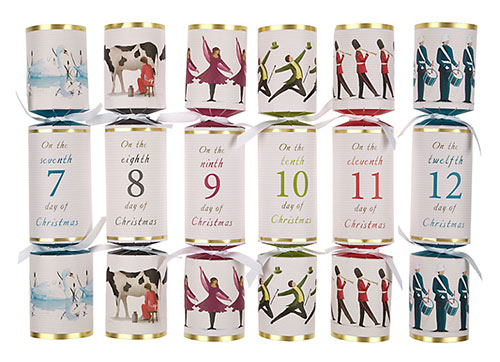 4 twelve days of christmas crackers