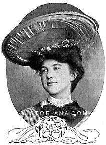 Edwardian hat with aigrette