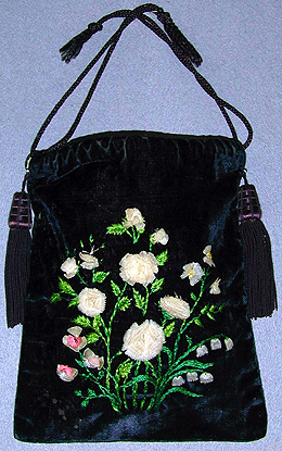 Embroidered purse.