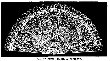 antique fan of Marie Antoinette