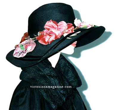 Beautiful 1920 dress hat of silk pile velvet features the drooping