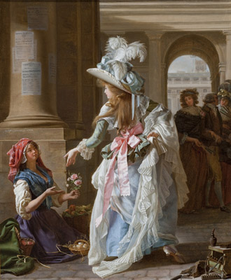 A Fashionably Dressed Young Woman in the Arcade of the Palais Royal, LACMA