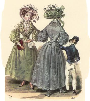 Antique Clothing Fashion History 1825 1840