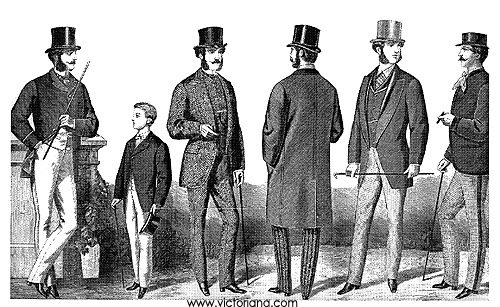 1860s: Men's Victorian Clothing