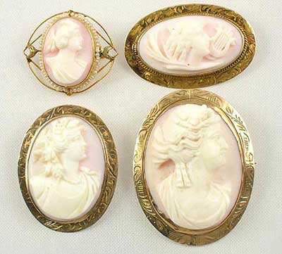 angelskin coral antique cameo brooches Photo courtesy of Sunday