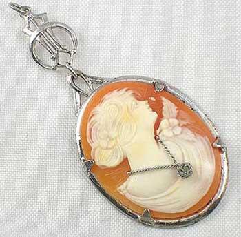 Antique cameo jewelry sterling silver mounted edwardian carnelian shell aloadofball Choice Image