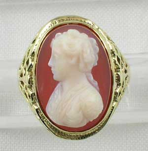 Antique cameo jewelry cameo ring aloadofball Choice Image
