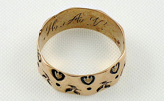 Victorian cigar band ring.
