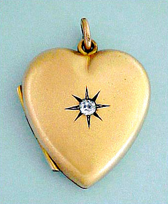 Victorian gold-filled heart locket.
