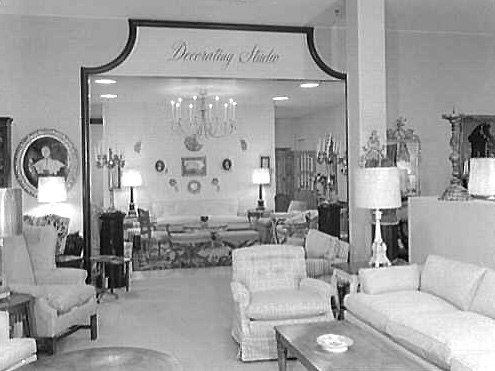Entrance To Lord And Tayloru0027s Furniture Department In A Washington, D.C.  Area Store In 1959.