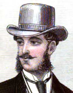 Antique Hat Victorian Men 1870s