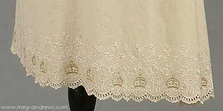Queen Victoria petticoat close-up