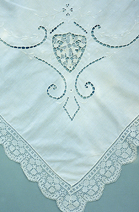 antique lace tablecloth