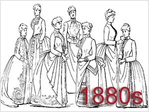 Victorian Bustles & the 1880s Silhouette