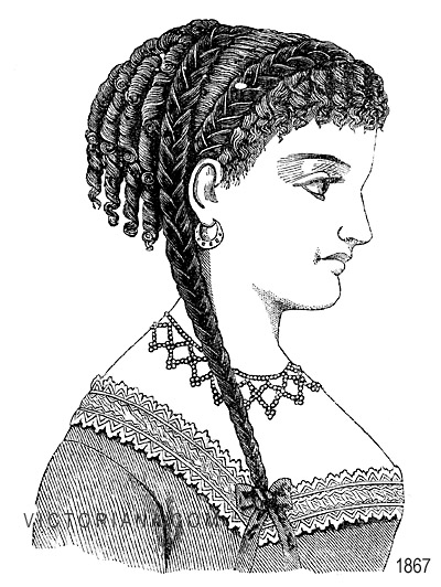 Hair style for a victorian ball