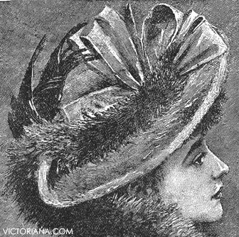 Fabulous Victorian Hats Victorian Winter Hat With Bird Short Hairstyles Gunalazisus