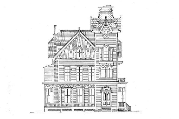 Cape May Victorian House Gothic Revival