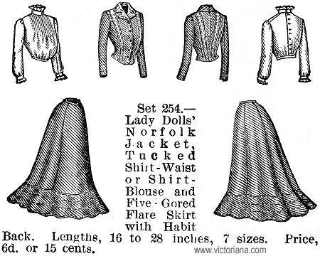 Doll Clothes Patterns from the Butterick Publishing Company, 1901