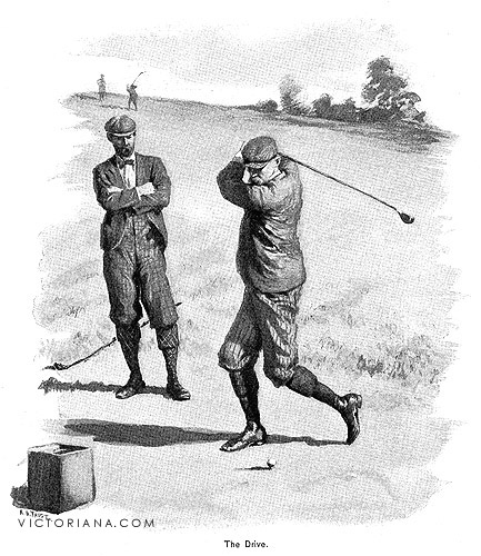 Antique golf print the drive by a b frost