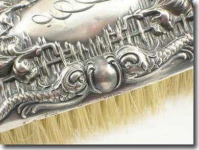 ornate silver full length mirror
