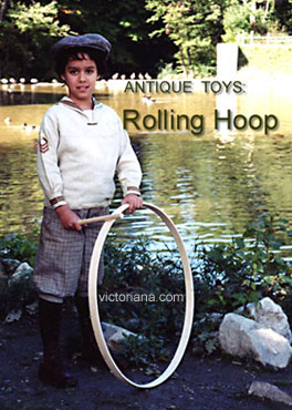 Victorian Toys Trundling A Hoop