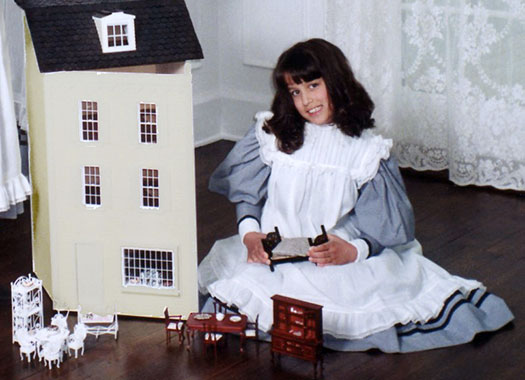 Vintage Girl  Miniature Dollhouse Doll House Picture