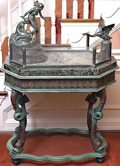 antique bronze aquarium