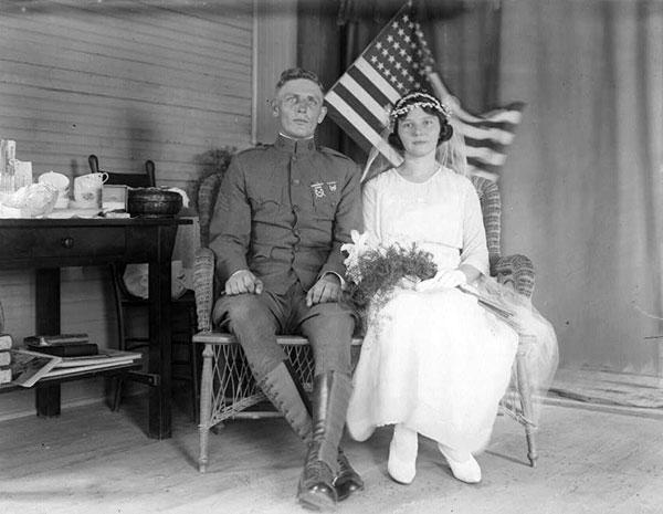 Bride In Wedding Dress With Groom VINTAGE WEDDING PHOTOGRAPHY