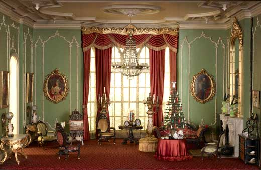 Miniature Rooms Dressed For Christmas