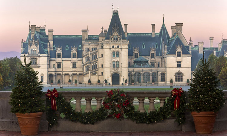 George Vanderbilt's Biltmore House during the estate's annual holiday celebration [Photo: The Biltmore Company]