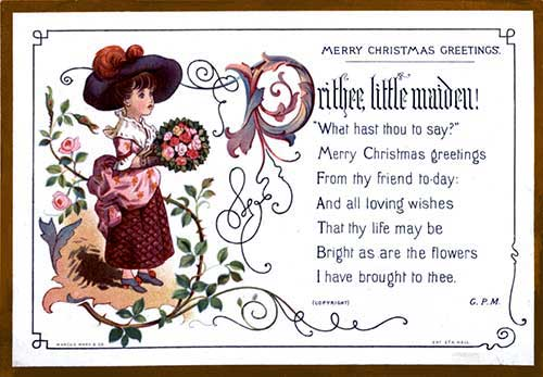 Victorian christmas greeting cards kate greenaway christmas greeting cards m4hsunfo