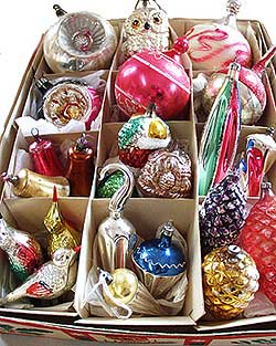 antique and vintage glass ornaments