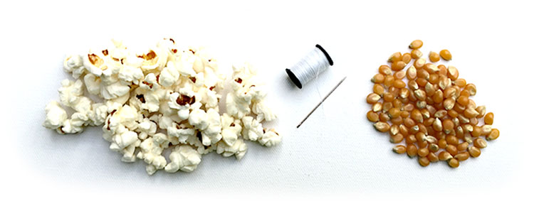 How to Make Christmas Tree Popcorn Garland (PICTURES)