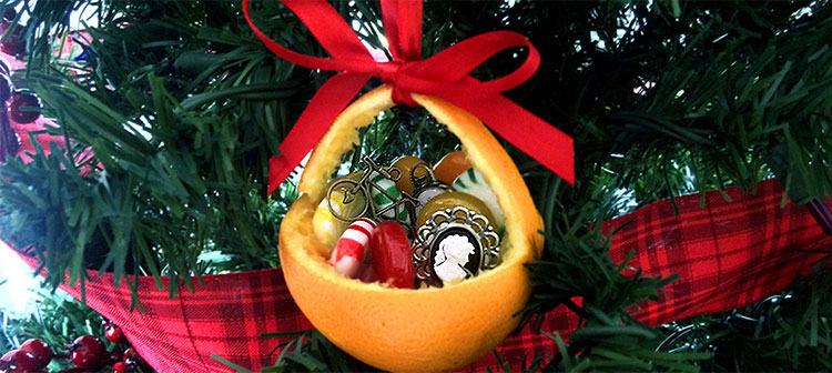 how to make christmas ornaments orange baskets