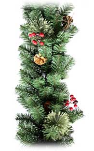 Decorating with Evergreens: Christmas Garland Portiere