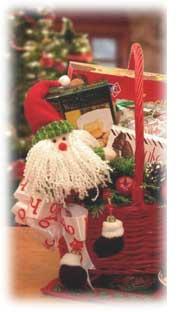 Christmas Wine Gift Basket