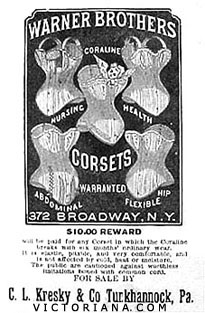 Warner Brothers corset ad from 1900.
