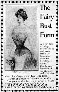 The Fairy Bust Form corset ad, 1900