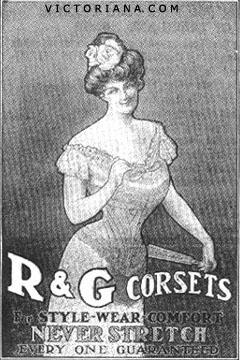 R & G Corsets ad, 1902