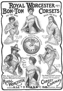Royal Worcester Corsets ad, 1903
