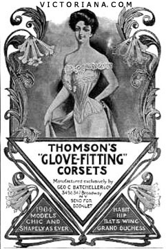 Thomson's Glove-Fitting Corsets ad, 1904