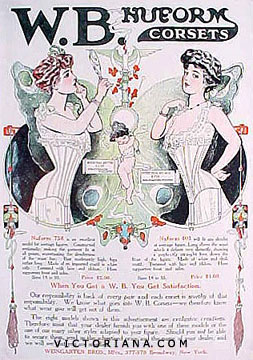 W.B. Nuform Corsets ad, 1906