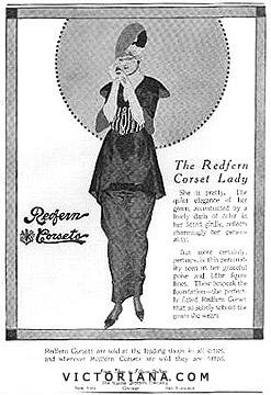 Redfern Corsets ad, 1914