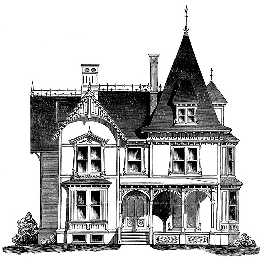 Cottage house plans french gothic cottage for Gothic cottage plans